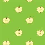 苹果计算机果子无缝的背景 库存图片