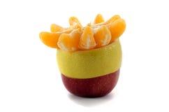 苹果计算机柠檬和蜜桔切片 免版税库存图片