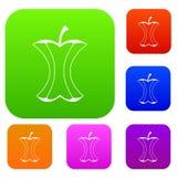 苹果计算机树桩集合颜色收藏 免版税库存照片