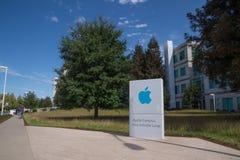 苹果计算机校园,库比蒂诺,加利福尼亚 库存图片