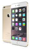 苹果计算机正金子iPhone 6 库存照片