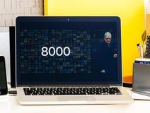 苹果计算机电视8000可利用的apps 免版税库存图片