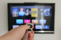 苹果计算机电视 免版税图库摄影