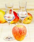 苹果计算机白兰地酒 免版税库存图片