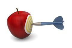 苹果计算机目标 免版税库存图片