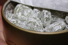 苹果计算机糖果monpasie酸下落 图库摄影