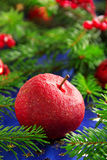 苹果计算机红色糖果 库存图片