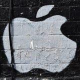 苹果计算机街艺术 免版税库存图片