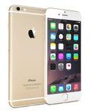 苹果计算机金子iPhone 6 免版税库存图片