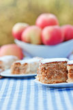 苹果计算机饼蛋糕和苹果果馅奶酪卷 免版税库存照片