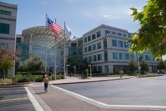 苹果计算机,库比蒂诺,加利福尼亚的公司总部 免版税图库摄影
