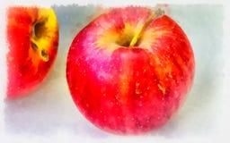 苹果计算机水彩 图库摄影