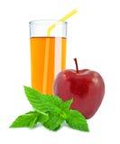 苹果计算机-薄荷的汁液 免版税库存图片