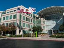 苹果计算机总部在库比蒂诺加利福尼亚 免版税库存照片