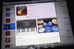苹果计算机GarageBand 免版税库存照片