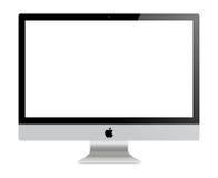 苹果计算机IMac显示器 皇族释放例证