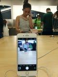 苹果计算机iPhone 7 免版税库存照片