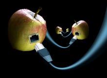苹果连接数 图库摄影