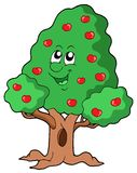 苹果逗人喜爱的结构树 免版税库存图片