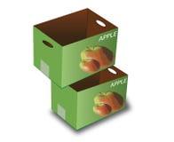 苹果配件箱 免版税库存图片