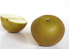 苹果金黄枯叶色 免版税库存图片
