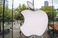 苹果零售店商标 免版税库存照片