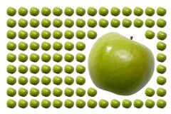 苹果食物结果实绿色尾标 库存图片