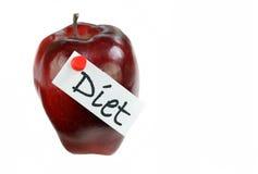 苹果饮食标签 库存照片