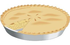 苹果饼传染媒介例证 皇族释放例证