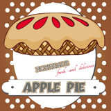 苹果饼海报 免版税库存照片