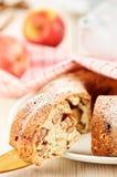 苹果饼部分  图库摄影