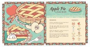 苹果饼食谱 库存例证