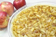 苹果饼,准备 库存图片