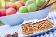 苹果饼-苹果蛋糕 库存图片