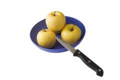 苹果黄色 库存图片