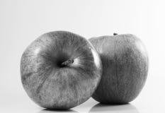 苹果黑色白色 免版税库存图片