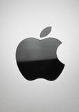 苹果黑色 免版税库存照片