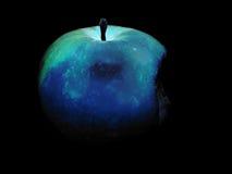 苹果黑色 库存照片