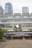 苹果洪公司kong被开张的商店 库存图片