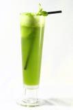苹果绿的汁液 图库摄影
