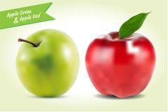 苹果绿的红色例证和背景 向量例证