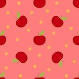 苹果仿造红色无缝 免版税图库摄影