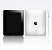 苹果eps ipad个人计算机待定片剂接触 库存图片