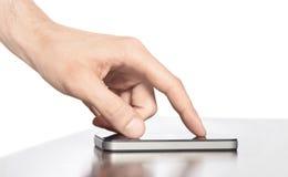 苹果iphone移动电话聪明的工作 免版税库存图片