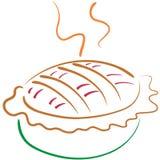 苹果lineart饼 皇族释放例证