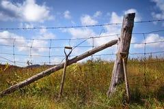 范围倾斜的铁锹 免版税图库摄影