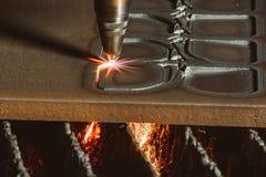 范围剪切进程再锯钢 库存照片