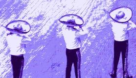 范围墨西哥流浪乐队墨西哥 库存例证