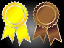 范围奖牌向量 免版税图库摄影