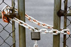 范围挂锁 免版税图库摄影